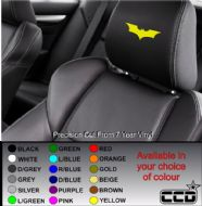 Batman Logo Car seat Decals